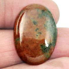 Natural 21.60cts grass garnet green cabochon 25.5x18 oval loose gemstone s2928