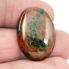 Natural 19.85cts grass garnet green cabochon 25x17.5 oval loose gemstone s2931