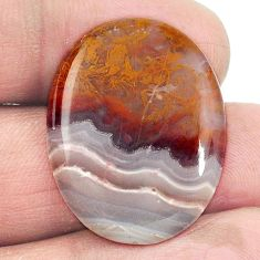 Natural 16.90cts agua nueva agate white cabochon 27x21 oval loose gemstone s2944