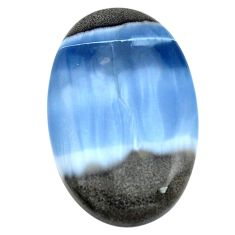 Natural 50.15cts owyhee opal blue cabochon 42x27 mm oval loose gemstone s3429