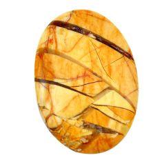42.40cts brecciated mookaite (australian jasper) 42x27.5 mm loose gemstone s3434