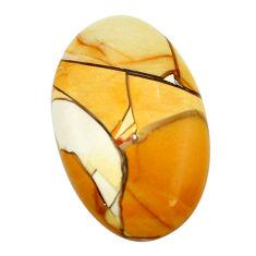34.45cts brecciated mookaite (australian jasper) 37x22.5 loose gemstone s3440