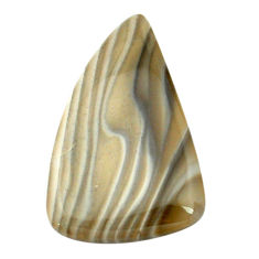 Natural 56.25cts striped flint ohio grey 50x30 mm pear loose gemstone s3448
