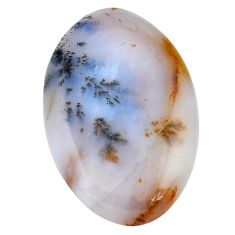 45.15cts scenic russian dendritic agate 40x26 mm oval loose gemstone s3492