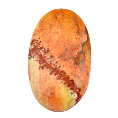 Natural 36.30cts rocky butte picture jasper 37x21 mm oval loose gemstone s3529
