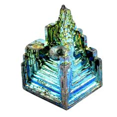 Natural 46.30cts bismuth crystal carving 22x15 mm fancy loose gemstone s3596