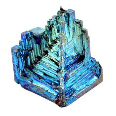 Natural 59.35cts bismuth crystal carving 24x18 mm fancy loose gemstone s3597