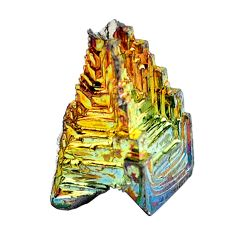 Natural 35.10cts bismuth crystal carving 17x10 mm fancy loose gemstone s3599