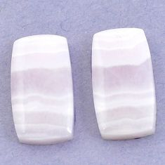 Natural 22.65cts lace agate pink cabochon 21x12 mm octagan loose gemstone s3683