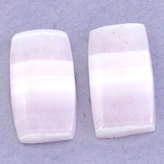 Natural 20.95cts lace agate pink cabochon 20x11 mm octagan loose gemstone s3684