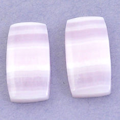 Natural 27.85cts lace agate pink cabochon 22x12 mm octagan loose gemstone s3686