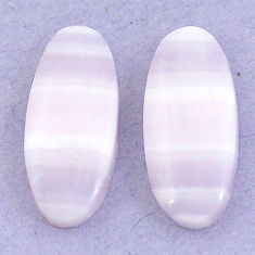 Natural 16.90cts lace agate pink cabochon 22x10 mm oval loose gemstone s3693