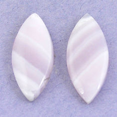 Natural 15.80cts lace agate pink cabochon 24x10 mm marquise loose gemstone s3697