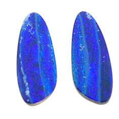 Natural 2.40cts doublet opal australian blue 11x5 mm fancy loose gemstone s3818