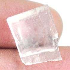 Natural 15.10cts petalite rough white 16x13 mm fancy loose gemstone s3946