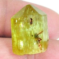 Natural 28.45cts hiddenite rough green rough 20x15 mm fancy loose gemstone s3967
