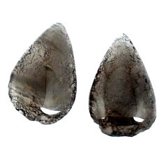 Natural 18.70cts agni manitite pair cabochon 22x13 mm pear loose gemstone s4124