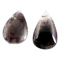 Natural 19.90cts agni manitite pair cabochon 20x13 mm pear loose gemstone s4132