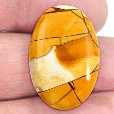 15.95cts brecciated mookaite (australian jasper) 26x18 mm loose gemstone s4245