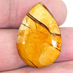 19.70cts brecciated mookaite australian jasper 25x18mm pear loose gemstone s4252