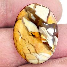 17.85cts brecciated mookaite australian jasper 25x18mm oval loose gemstone s4254
