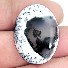 Natural 23.10cts dendrite opal (merlinite) 29x21 mm oval loose gemstone s4273