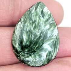 Natural 23.30cts seraphinite (russian) green 30x21 mm pear loose gemstone s4312