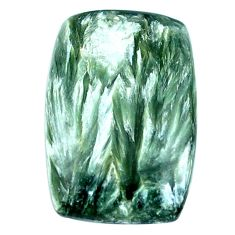 Natural 19.05cts seraphinite russian green 26x17mm octagan loose gemstone s4321