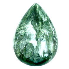 Natural 17.10cts seraphinite (russian) green 27x17 mm pear loose gemstone s4323