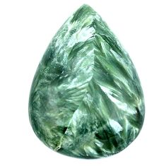Natural 18.15cts seraphinite (russian) green 27x18 mm pear loose gemstone s4324