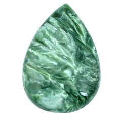 Natural 22.05cts seraphinite (russian) green 29x18mm pear loose gemstone s4325
