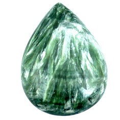 Natural 18.85cts seraphinite (russian) green 28x19 mm pear loose gemstone s4329