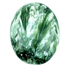 Natural 20.85cts seraphinite (russian) green 29x21 mm oval loose gemstone s4330
