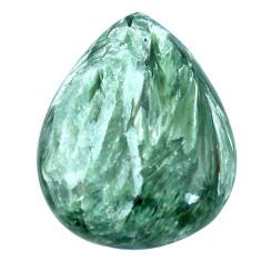 Natural 19.90cts seraphinite (russian) green 25x19mm pear loose gemstone s4338