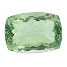 Natural 14.90cts amethyst green faceted 19x13 mm cushion loose gemstone s4406