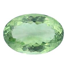 Natural 24.90cts amethyst green faceted 24x16 mm oval loose gemstone s4410