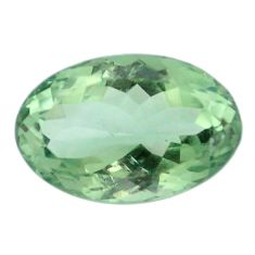 Natural 13.70cts amethyst green faceted 18x12 mm oval loose gemstone s4417