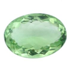 Natural 13.15cts amethyst green faceted 19x14 mm oval loose gemstone s4418