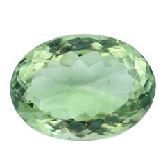Natural 14.80cts amethyst green faceted 18x14 mm oval loose gemstone s4420