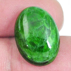 Natural 14.45ct chrome diopside green cabochon 18x13mm oval loose gemstone s4425
