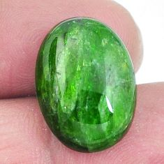 Natural 14.40ct chrome diopside green cabochon 18x13mm oval loose gemstone s4429