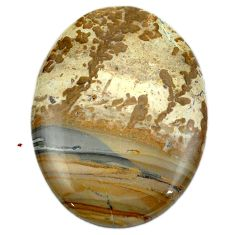 48.35cts cotham landscape marble brown 40x30 mm oval loose gemstone s4449