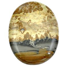 43.65cts cotham landscape marble brown 38x28 mm oval loose gemstone s4451