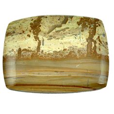 82.45cts cotham landscape marble brown 46x37 mm octagan loose gemstone s4454