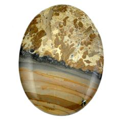 44.60cts cotham landscape marble brown 42x30 mm oval loose gemstone s4455