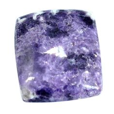 Natural 23.45cts lepidolite purple cabochon 24x20mm octagan loose gemstone s4487