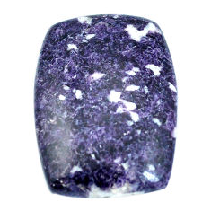 Natural 47.40cts lepidolite purple cabochon 35x25mm octagan loose gemstone s4490