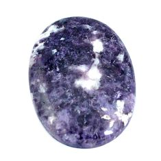 Natural 11.30cts lepidolite purple cabochon 24x17 mm oval loose gemstone s4491