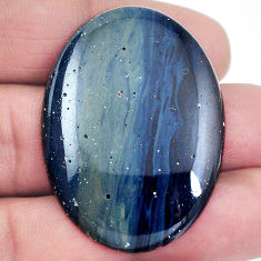 Natural 45.10cts swedish slag blue cabochon 41x30 mm oval loose gemstone s4503