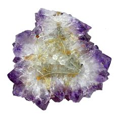 Natural 35.95cts amethyst flower stalactite purple 29x28 mm loose gemstone s4667